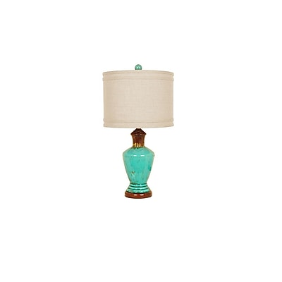 Aurora Lighting 1-Light Incandescent Table Lamp - Turquoise (STL-CST079463)