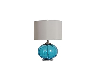 Aurora Lighting 1-Light Incandescent Table Lamp - Sea Blue (STL-CST061413)
