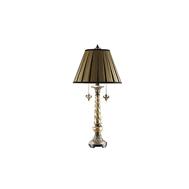 Aurora Lighting 2-Light Incandescent Table Lamp - Pewter and Bronze (STL-CST028409)