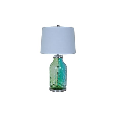 Aurora Lighting 1-Light Incandescent Table Lamp - Blue and Green (STL-CST075045)