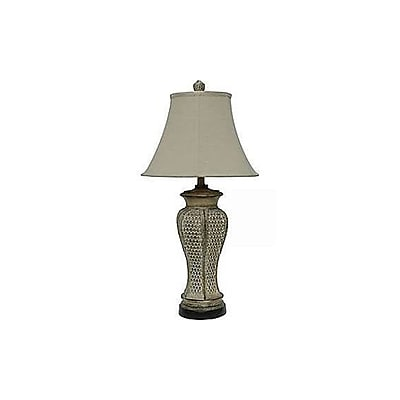 Aurora Lighting 1-Light Incandescent Table Lamp - Tropic Brown (STL-CST033632)