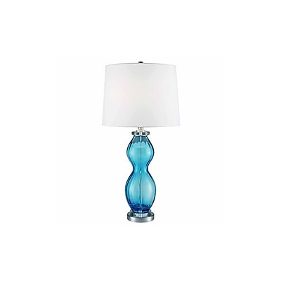 Aurora Lighting 1-Light Incandescent Table Lamp - Brylliant Blue (STL-CST081176)