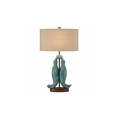 Aurora Lighting 1-Light Incandescent Table Lamp - Rustic Green (STL-CST085549)