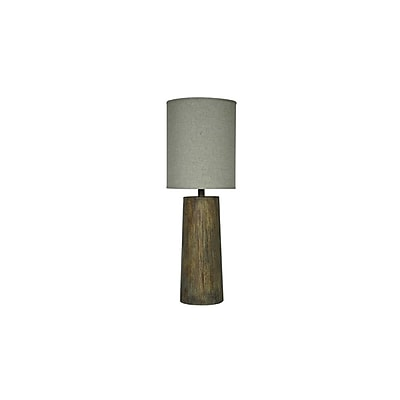 Aurora Lighting 1-Light Incandescent Table Lamp - Natural Wood (STL-CST059946)