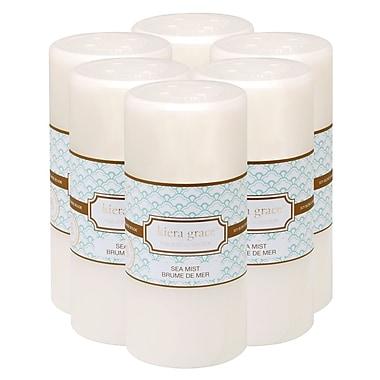Kiera Grace – Chandelle pilier mélange de soja de 6 po Naturals, brûle très longtemps, brume de mer, 6/paquet (CA19292-9INT)