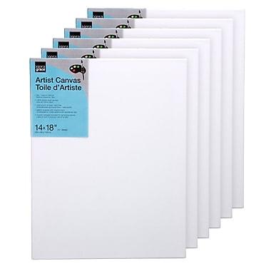 Toiles d'artiste d'une épaisseur de 3/4 po, 14 x 18 po, canevas en coton de 8 oz, 6/paquet (CR90215-3INT)