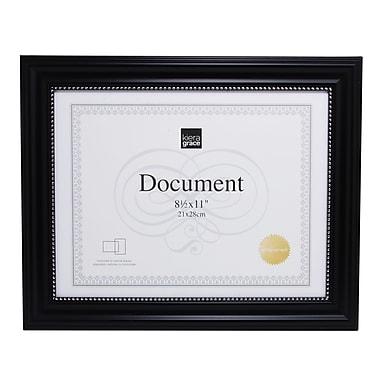 Kiera Grace – Cadre pour document Lucy, 8,5 x 11 po, noir, perlage argenté, 12/paquet (PH43896-6MC)
