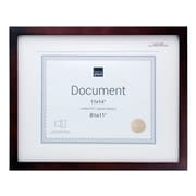 "Kiera Grace Contempo 11"" x 14"" Document Frame, Matted for 8.5"" x 11"", Espresso, 4/Pack"