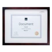 Kiera Grace – Cadre pour document Contempo, 11 x 14 po, avec passe-partout pour photo de 8,5 x 11 po, espresso, paq./4