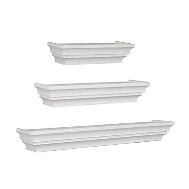 nexxt Madison Wall Shelf, Set of 3, 4.75