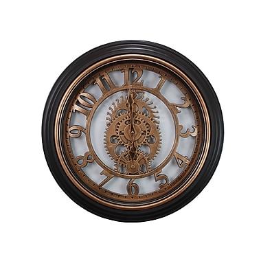 Kiera Grace – Horloge murale de 20 po avec engrenages, fini bronze