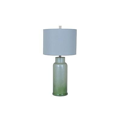 Aurora Lighting 1-Light Incandescent Table Lamp - Green Frost (STL-CST074963)