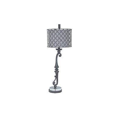 Aurora Lighting 1-Light Incandescent Table Lamp - Grey Stone (STL-CST074840)