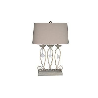 Aurora Lighting 1-Light Incandescent Table Lamp - Silver Ambrusia (STL-CST064827)