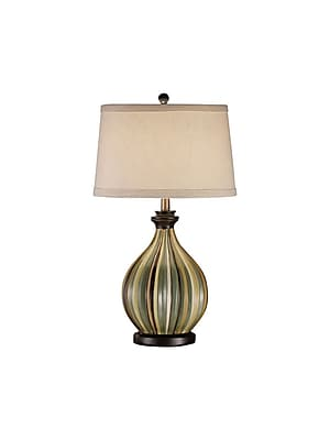 Aurora Lighting 1-Light Incandescent Table Lamp - Green, Brown, Cream, and Mustard (STL-CST029482)