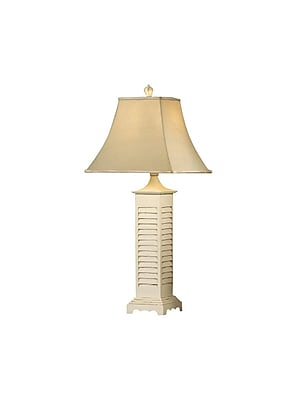 Aurora Lighting 1-Light Incandescent Table Lamp - Grey Wash and White Shutter (STL-CST011142)