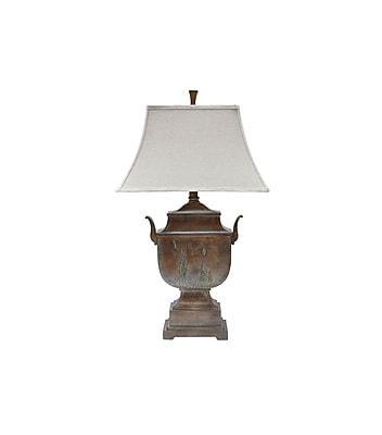 Aurora Lighting 1-Light Incandescent Table Lamp - Rustic Wood (STL-CST049350)