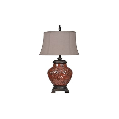 Aurora Lighting 1-Light Incandescent Table Lamp - Red (STL-CST059359)