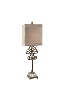 Aurora Lighting 1-Light Incandescent Table Lamp - Toasted Silver (STL-CST070101)