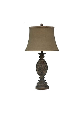 Aurora Lighting 1-Light Incandescent Table Lamp - Rustic Wood (STL-CST029901)