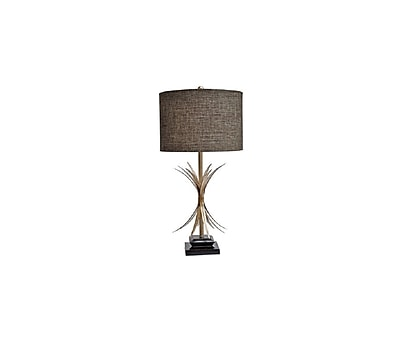Aurora Lighting 1-Light Incandescent Table Lamp - Toasted Silver (STL-CST053463)