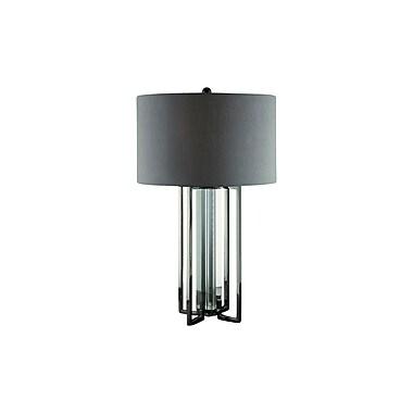 Aurora Lighting 1-Light Incandescent Table Lamp - Grey Silk (STL-CST061062)