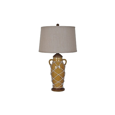 Aurora Lighting 1-Light Incandescent Table Lamp - Caramel (STL-CST075281)