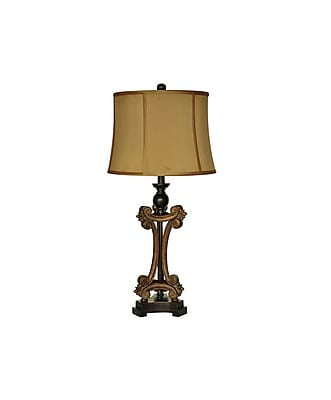 Aurora Lighting 1-Light Incandescent Table Lamp - Antique Gold (STL-CST064728)
