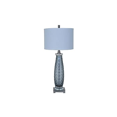Aurora Lighting 1-Light Incandescent Table Lamp - Grey (STL-CST075069)
