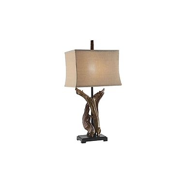 Aurora Lighting 1-Light Incandescent Table Lamp - Natural Wood (STL-CST029338)