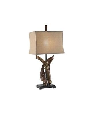 Aurora Lighting 1-Light Incandescent Table Lamp - Natural Wood (STL-CST029338)