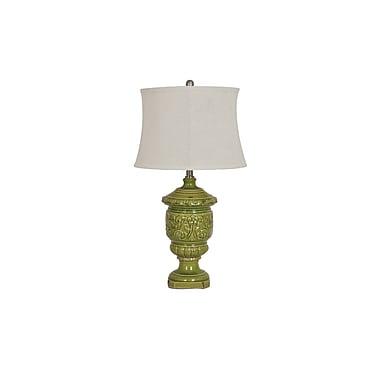 Aurora Lighting 1-Light Incandescent Table Lamp - Tuscan Green (STL-CST069860)