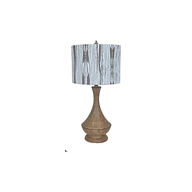 Aurora Lighting 1-Light Incandescent Table Lamp - Brown Antique Wood (STL-CST081312)