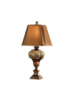 Aurora Lighting 1-Light Incandescent Table Lamp - Umber Finish (STL-CST016123)