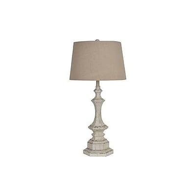 Aurora Lighting 1-Light Incandescent Table Lamp - White Wash (STL-CST059588)