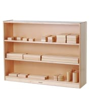 Constructive Playthings Three Level Tall Shelving Unit w/ Casters