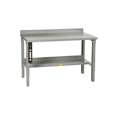 Little Giant USA Welded Stationary Adjustable Height Steel Top Workbench; 72'' W x 28'' D