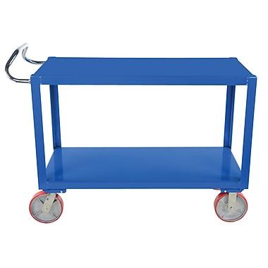 Vestil 3.6 K 36'' Ergo Handle Utility Cart w/ Poly Casters
