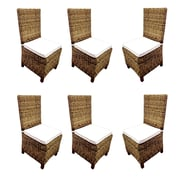 D-Art Collection Carlton Patio Dining Chair w/ Cushion (Set of 6)