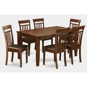 Wooden Importers Dudley 7 Piece Dining Set; Faux Leather