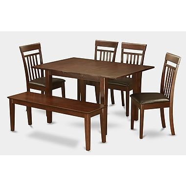Wooden Importers Picasso 6 Piece Dining Set; Faux Leather