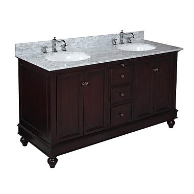 KBC Bella 60'' Double Bathroom Vanity Set; Chocolate
