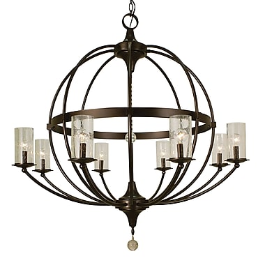 Framburg Compass 8-Light Candle-Style Chandelier; Brushed Nickel