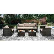Hokku Designs Alden 5 Piece Seating Group; Ivory