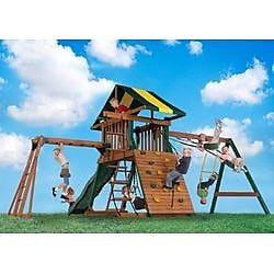 Backyard Play Systems Castle Rock Swing Set