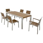 Trex Surf City 7 Piece Dining Set; Textured Silver / Tree House