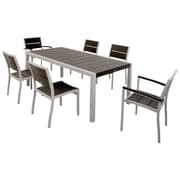 Trex Surf City 7 Piece Dining Set; Textured Silver / Charcoal Black