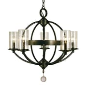 Framburg Compass 5-Light Candle-Style Chandelier; Brushed Nickel