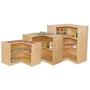 Wood Designs Corner Shelving Unit; 23.5'' H x 29'' W x 15'' D