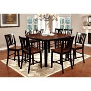 Hokku Designs Carolina 9 Piece Counter Height Pub Dining Set; Black / Cherry